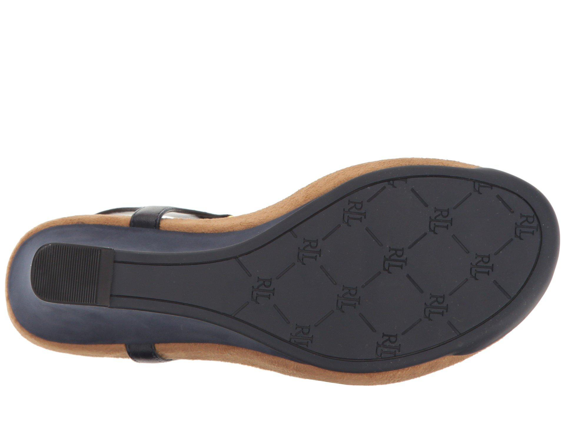 43e12813b0 Lauren by Ralph Lauren Nikki (navy) Women's Wedge Shoes in Blue - Lyst