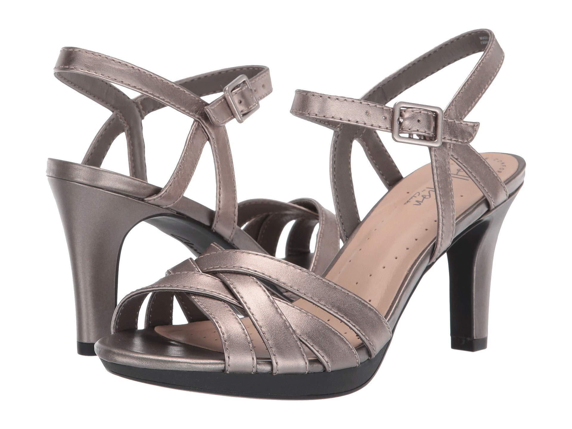 fbe03046a66 Clarks. Women s Adriel Wavy (pewter Leather) High Heels