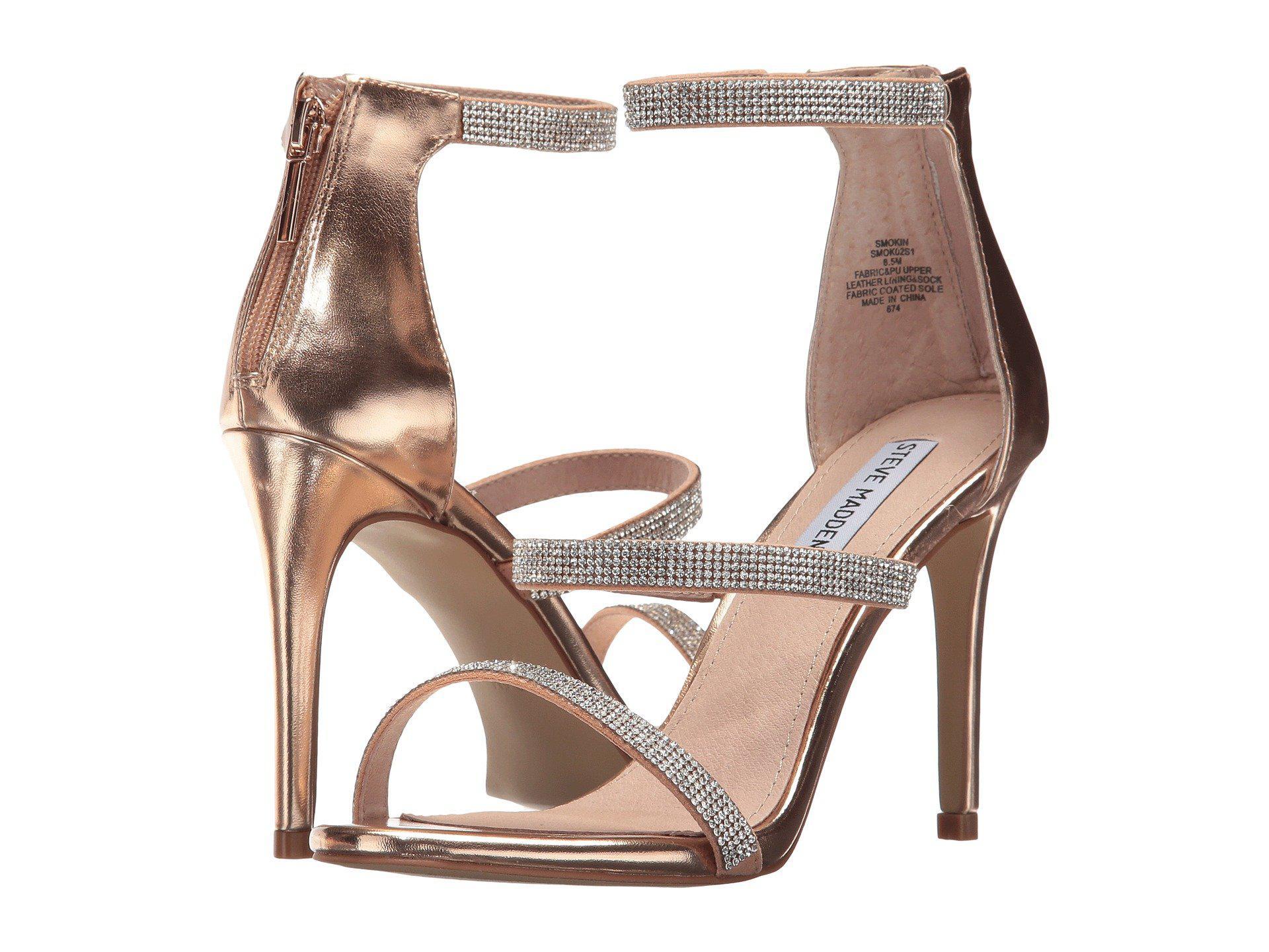 6f74fb96568 Lyst - Steve Madden Smokin (rose Gold) High Heels