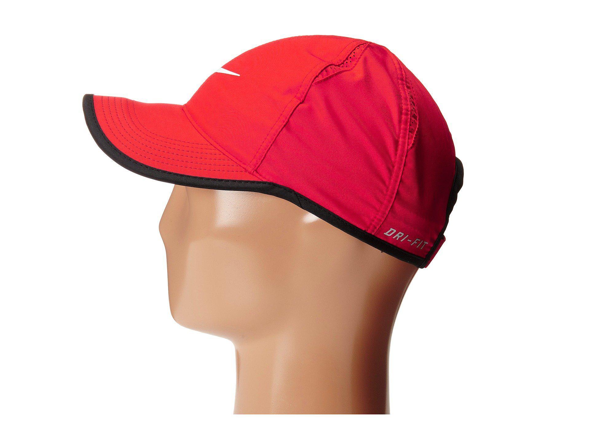 1aedae379d1c49 Nike Featherlight Cap (black/white) Caps in Red for Men - Lyst