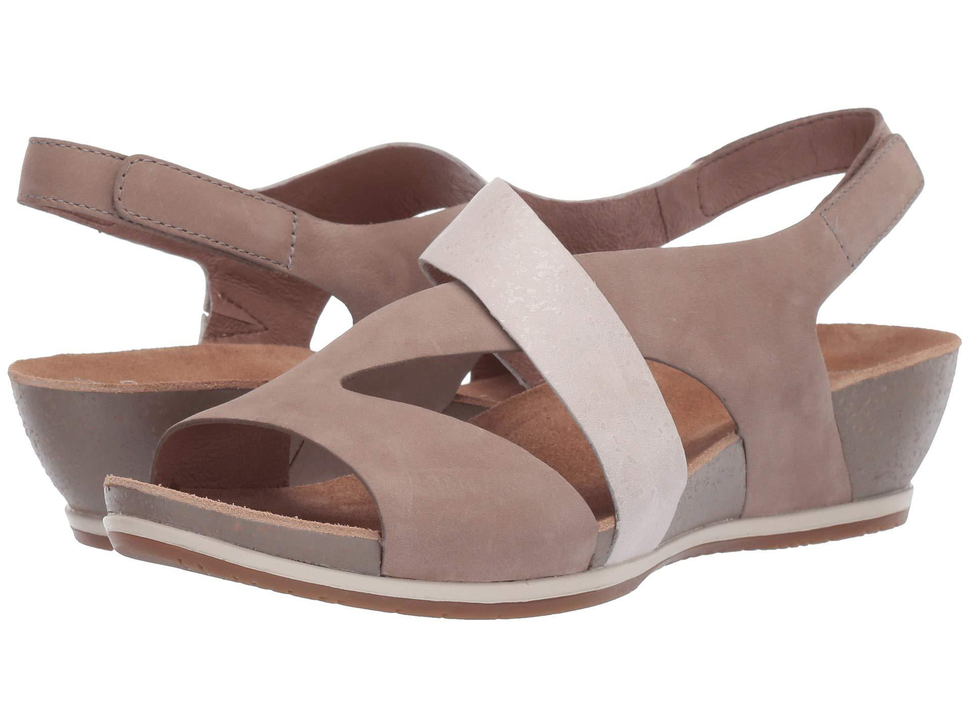 950d81ae09d3 Lyst - Dansko Vicky (black Milled Nubuck) Women s Sandals in Brown ...