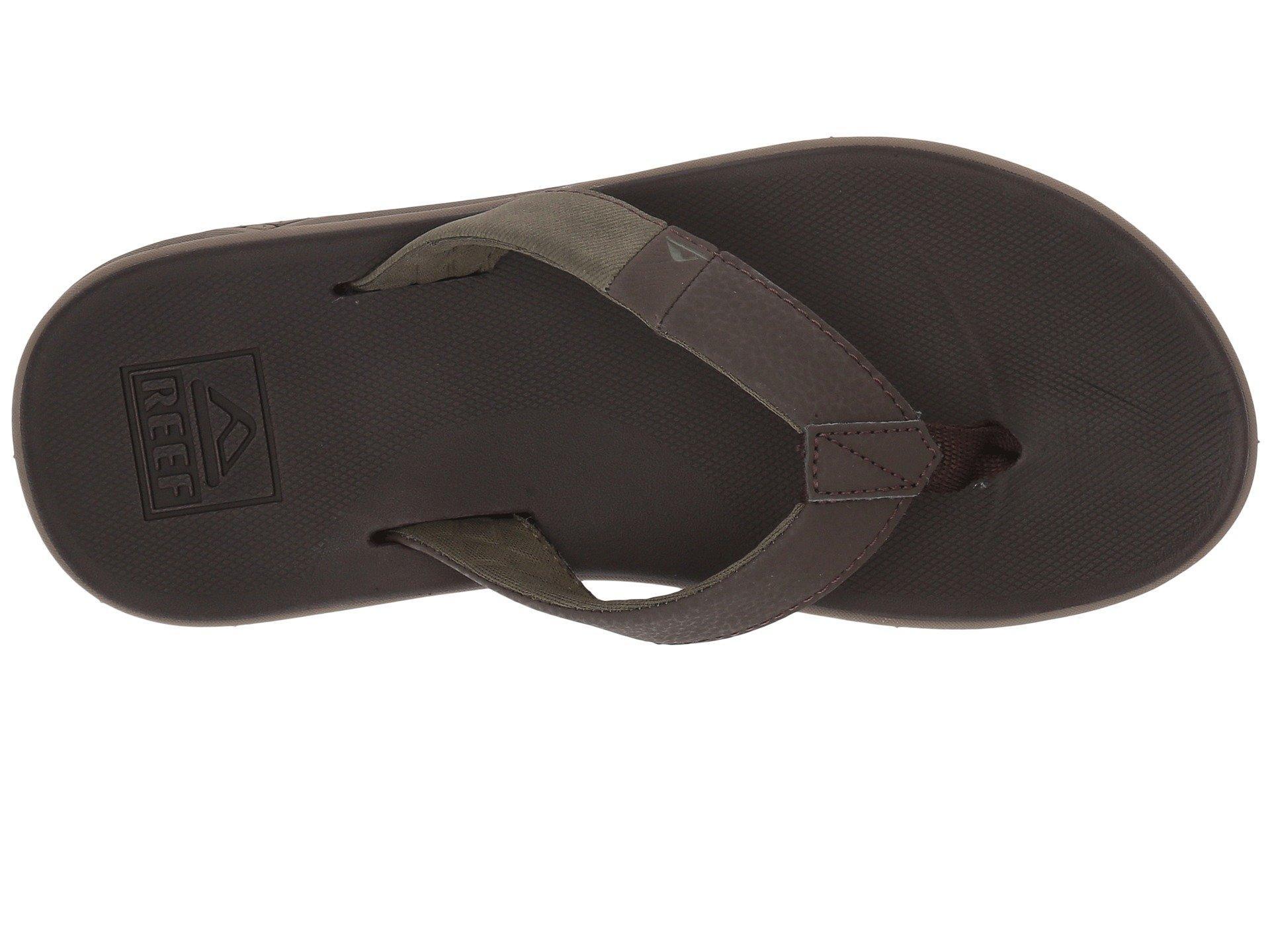 79079d5cde95 Reef - Brown Slammed Rover (grey black red) Men s Sandals for Men. View  fullscreen