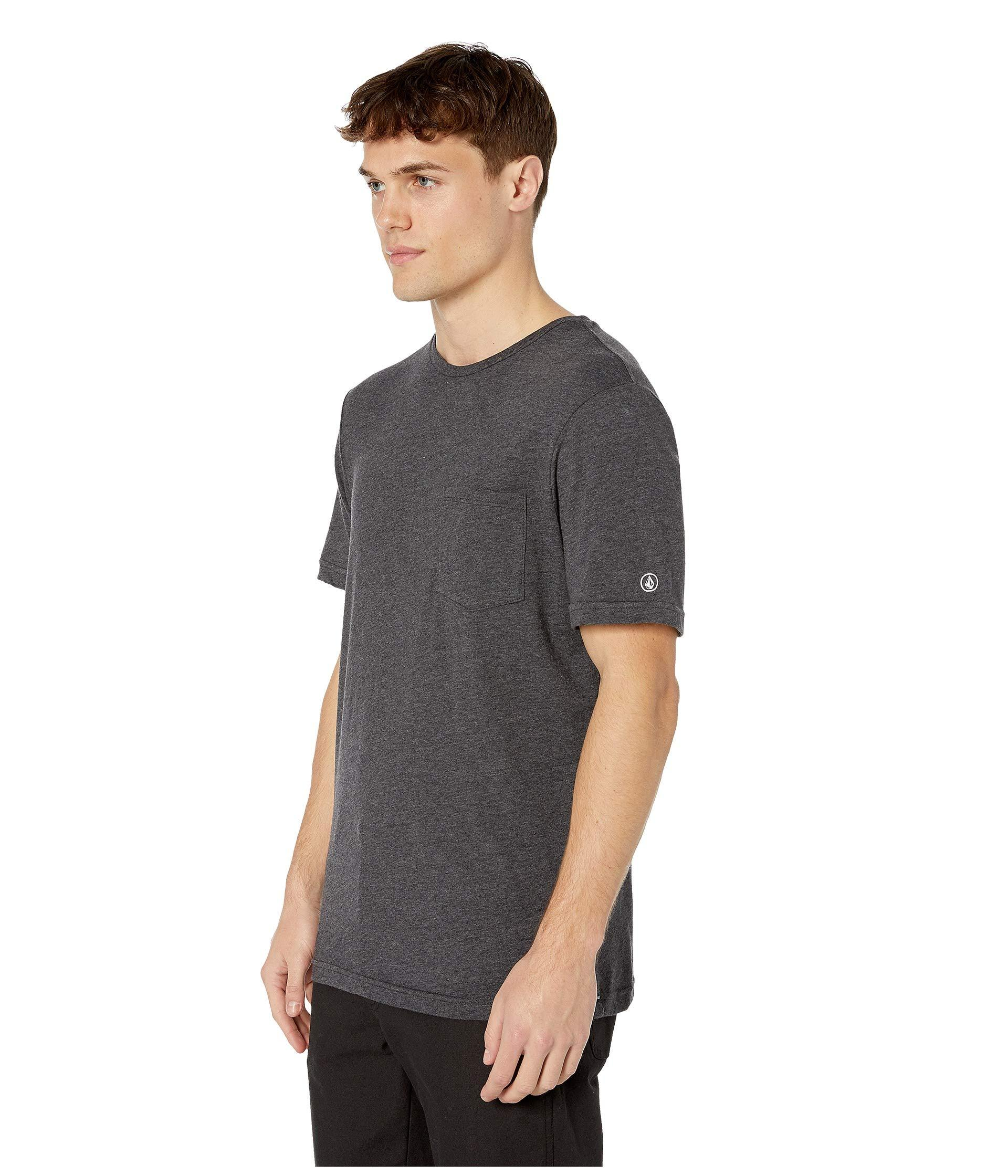 739a0c37b81 Lyst - Volcom Heather Short Sleeve Pocket Tee (black Combo) Men's Clothing  in Black for Men