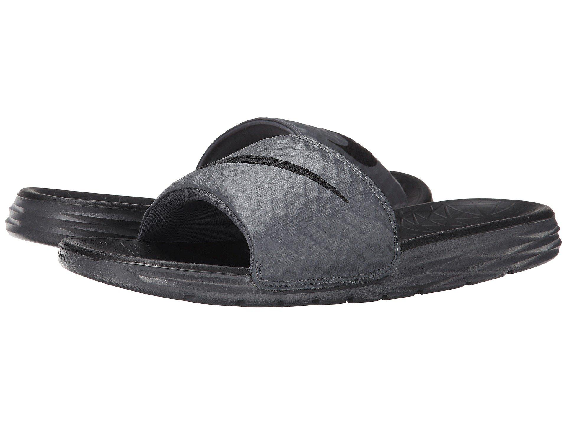 c63ef64e63a1 Lyst - Nike Benassi Solarsoft Slide 2 (dark Grey black) Men s Slide ...
