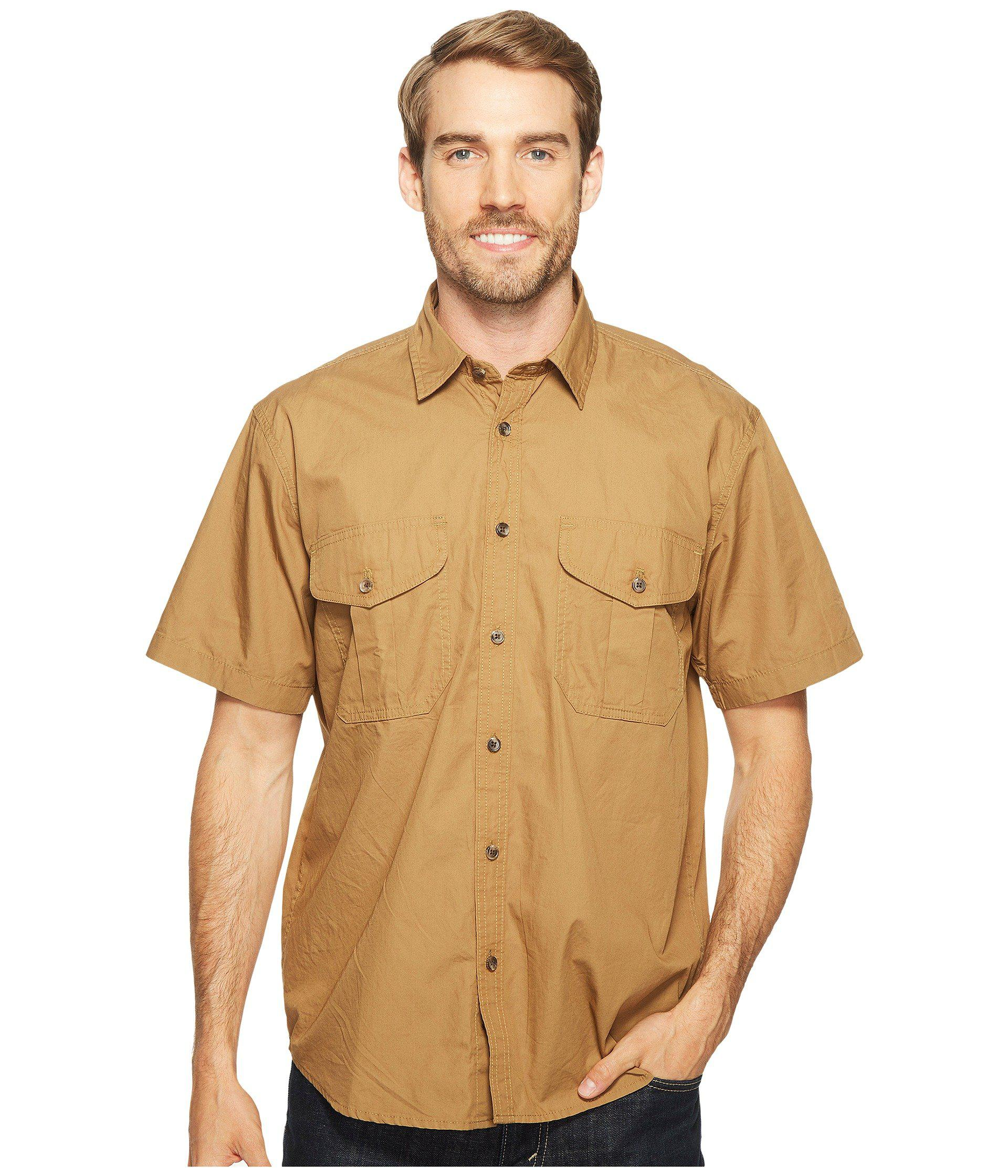 3243393b6df99 Filson Short Sleeve Feather Cloth Shirt (khaki olive blue Plaid ...