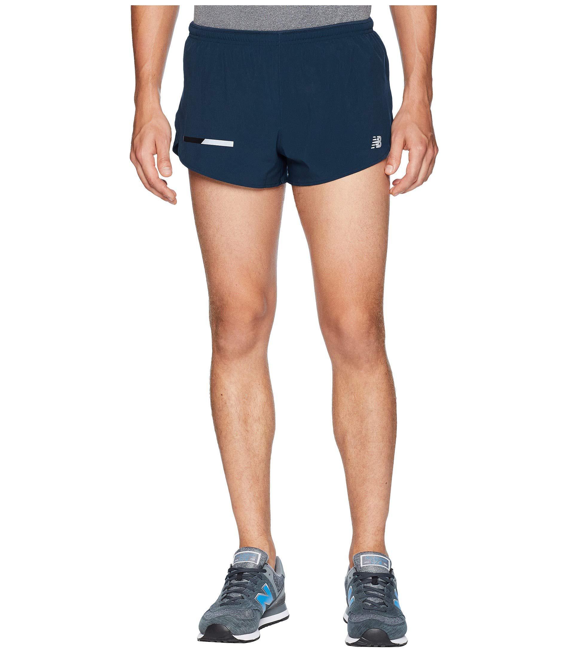 Lyst New Balance Impact Split Shorts 3 (flame) Men's