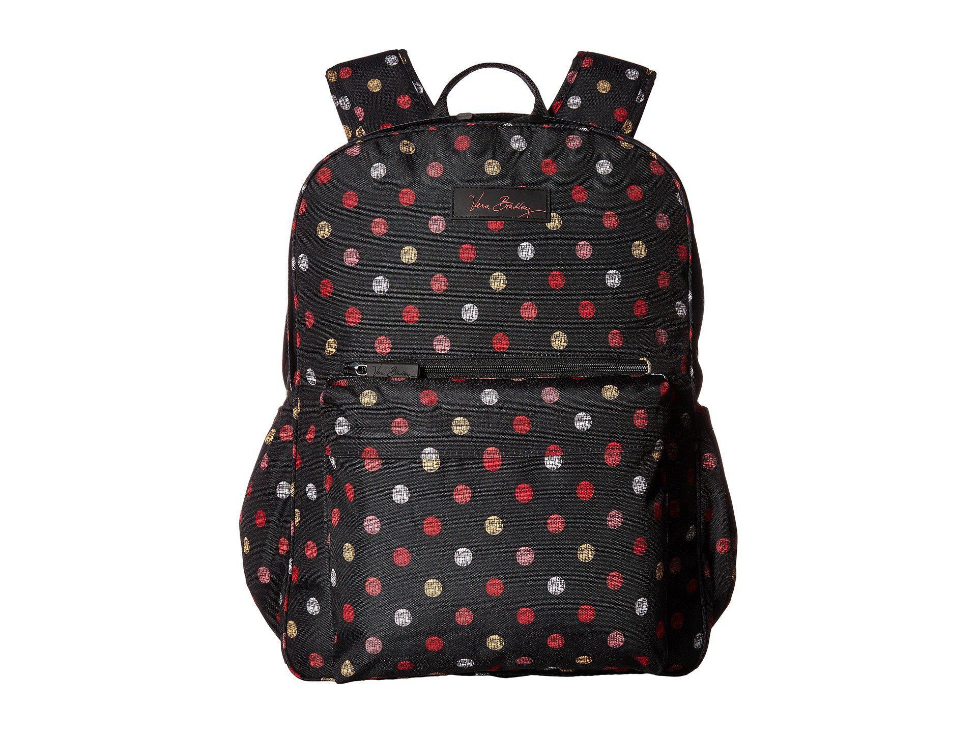 5e4389589a99 Lyst - Vera Bradley Lighten Up Grande Laptop Backpack (havana Dots ...