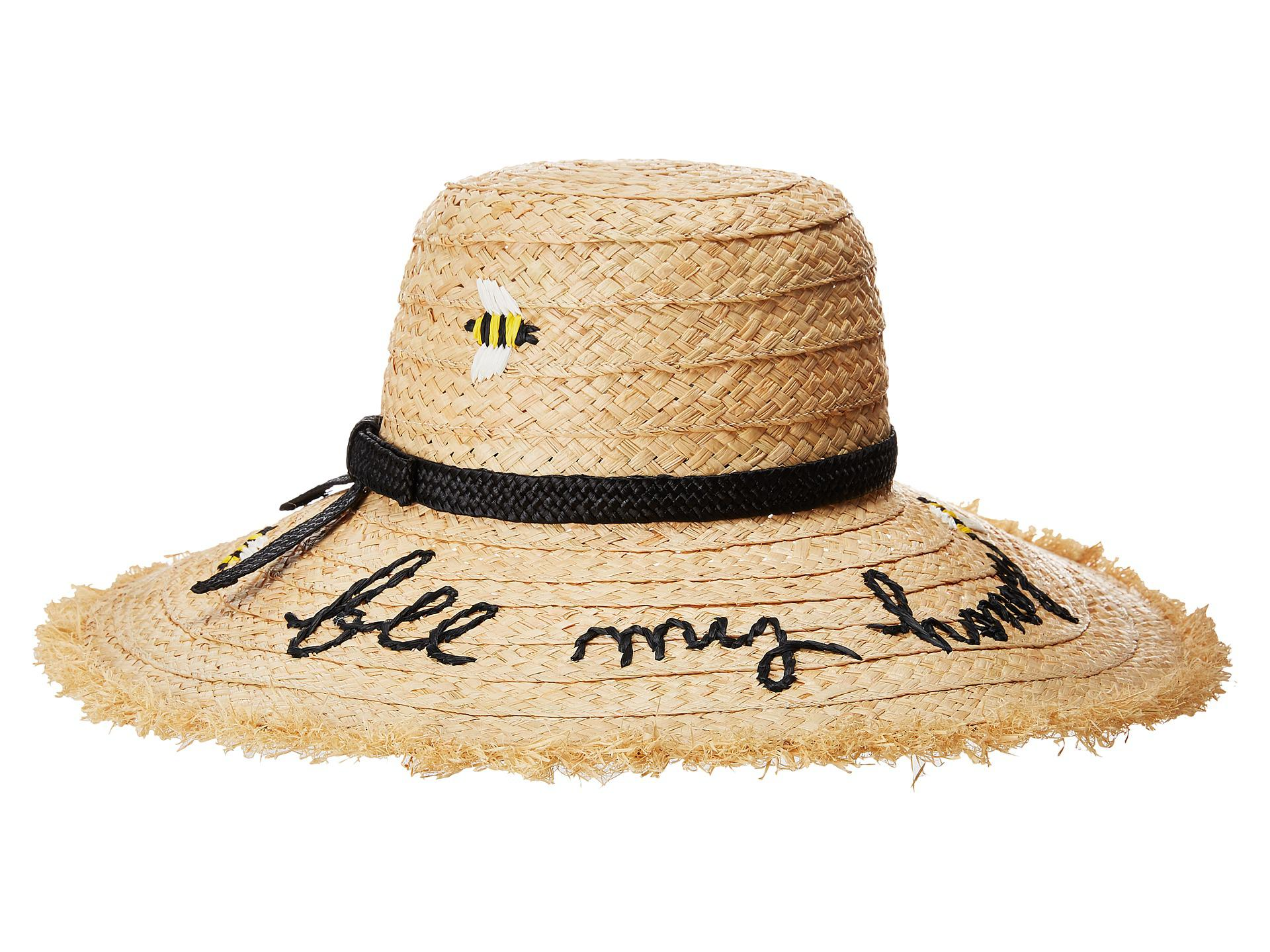 a5b4ec17c91 Lyst - Kate Spade Bee My Honey Sunhat in Natural
