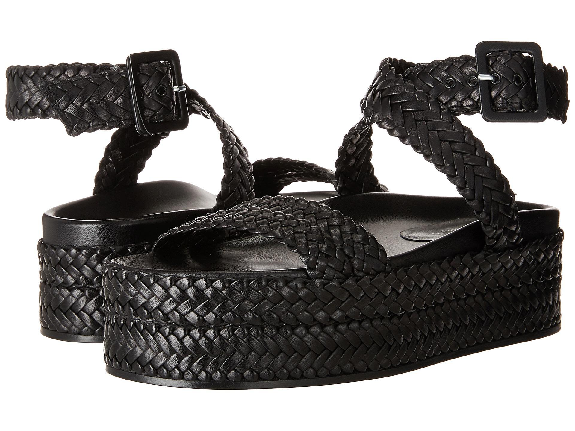 980c9a7917c Lyst - Sonia Rykiel Ankle Wrap Platform Sandal in Black