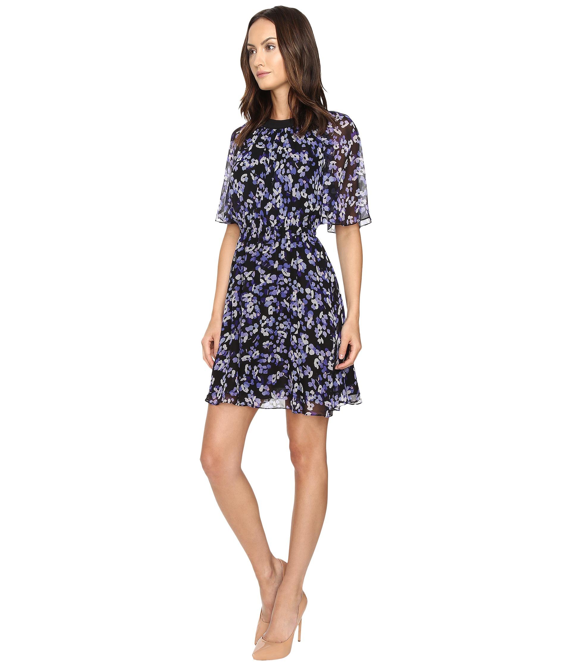 89e7262d69888 Lyst - Kate Spade Hydrangea Chiffon Dress in Black