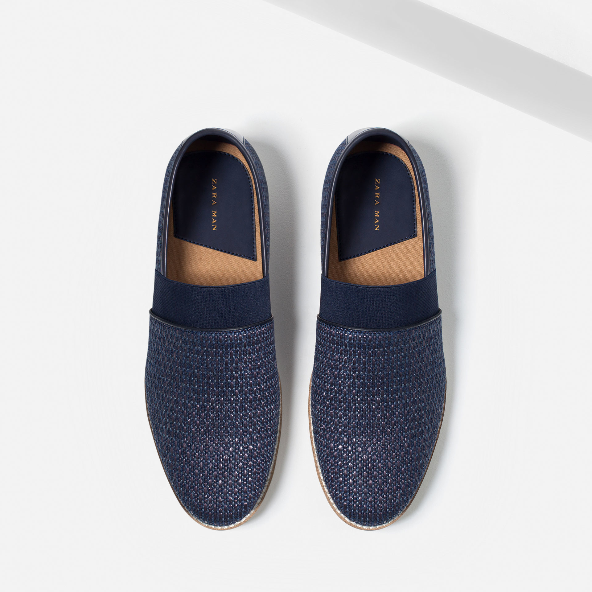 Zara Casual Loafers in Blue for Men | Lyst