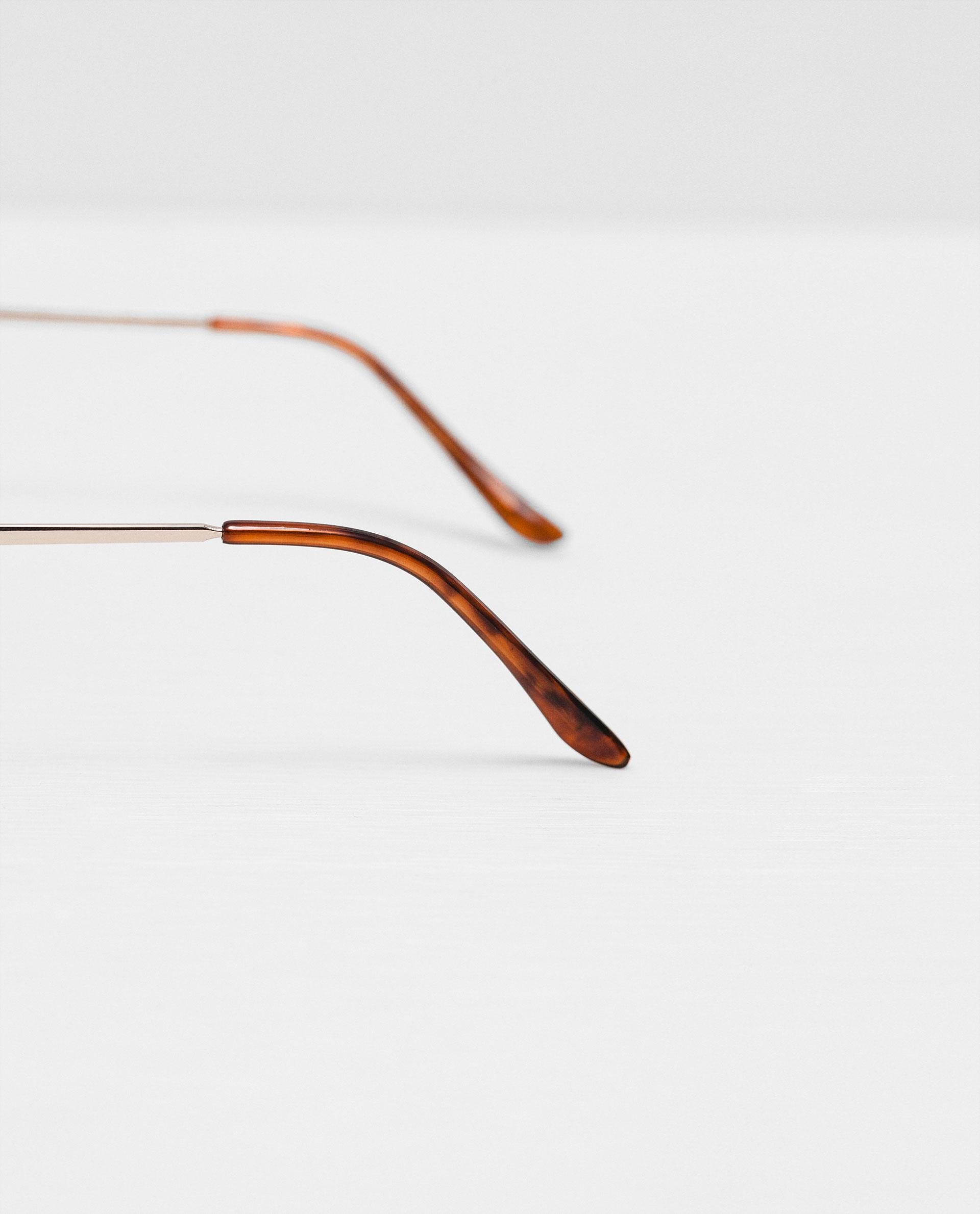 Zara Glasses Frames : Zara Metallic Frame Glasses for Men Lyst