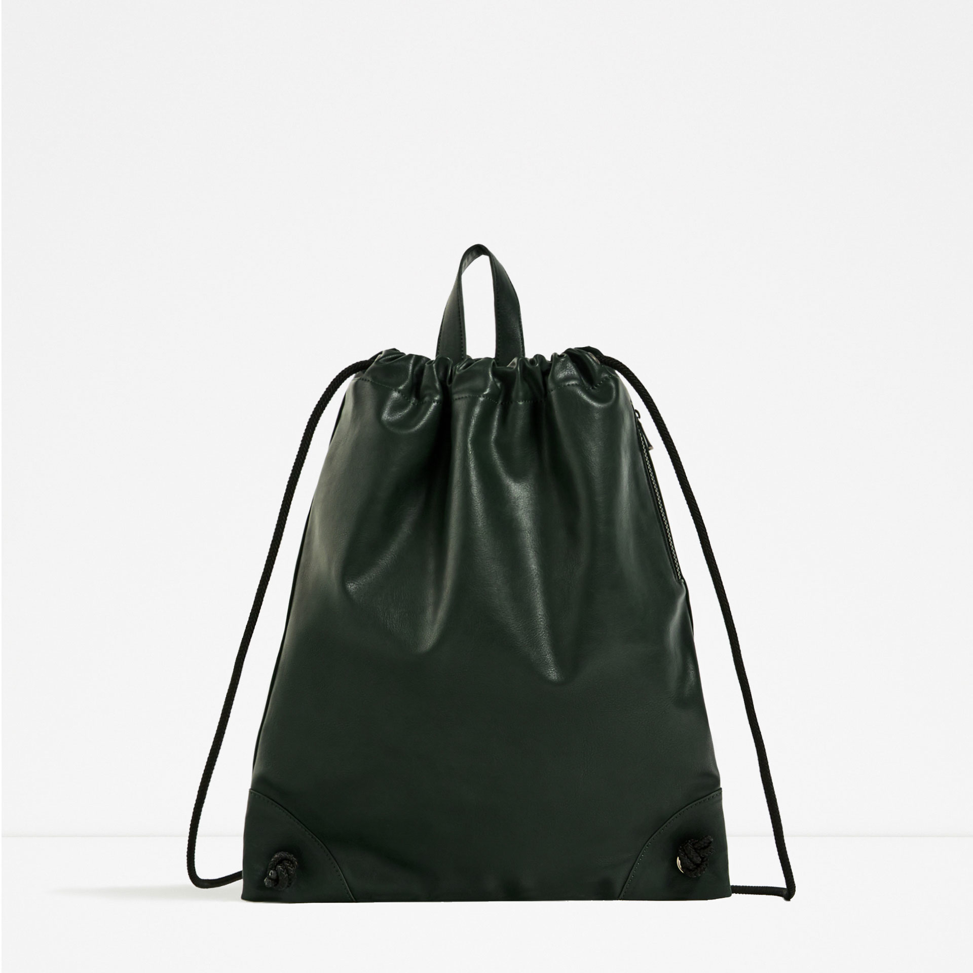 Zara Drawstring Backpack In Green Lyst