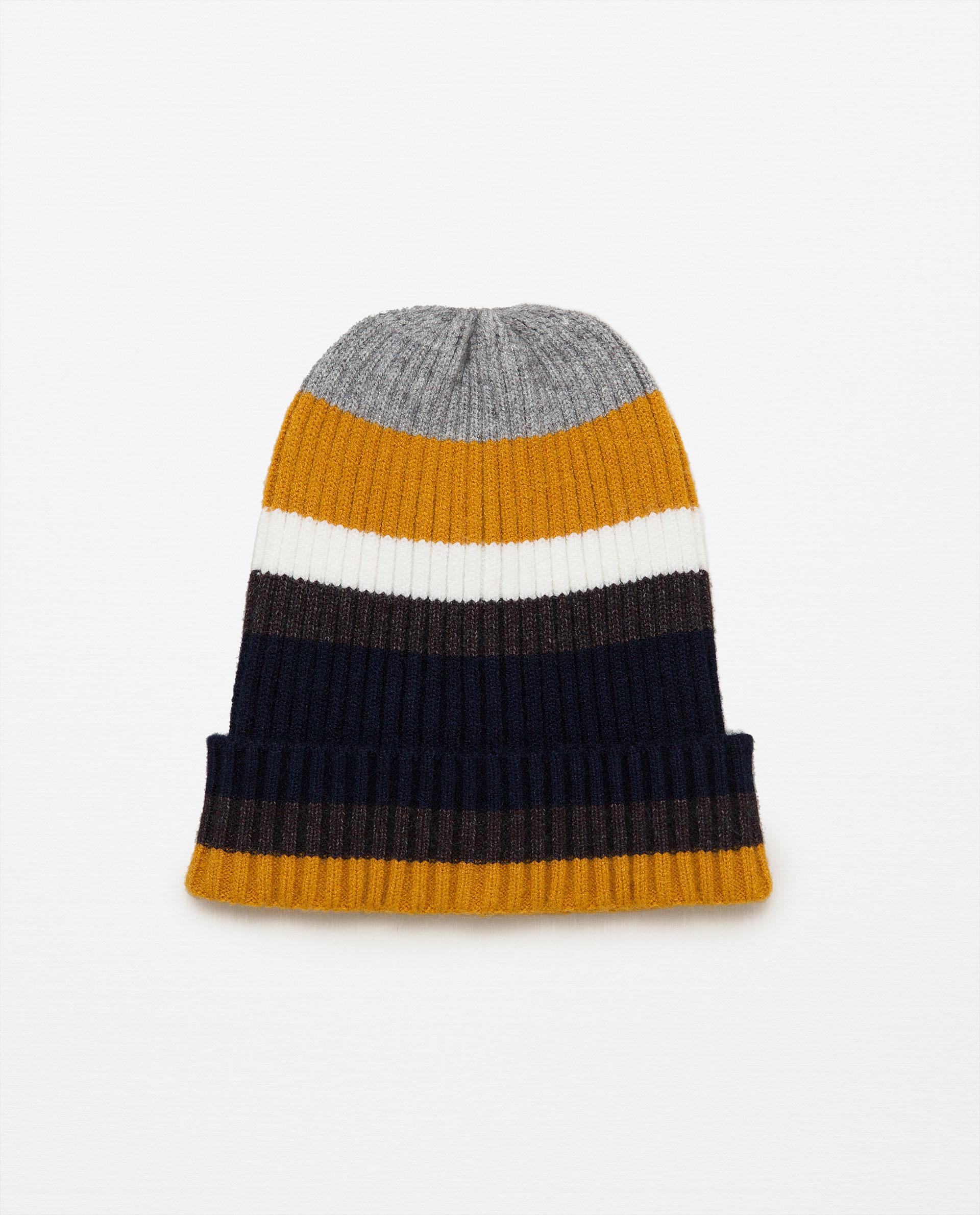 zara striped hat lyst