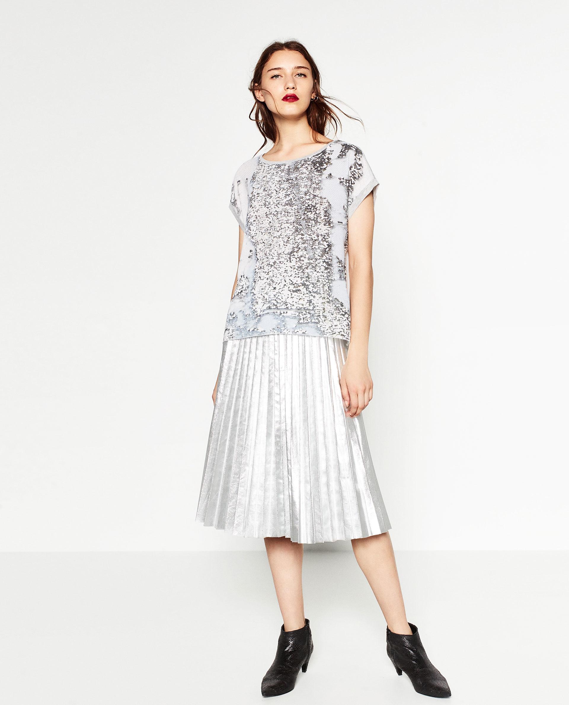 Zara Shiny Print Blouse 56