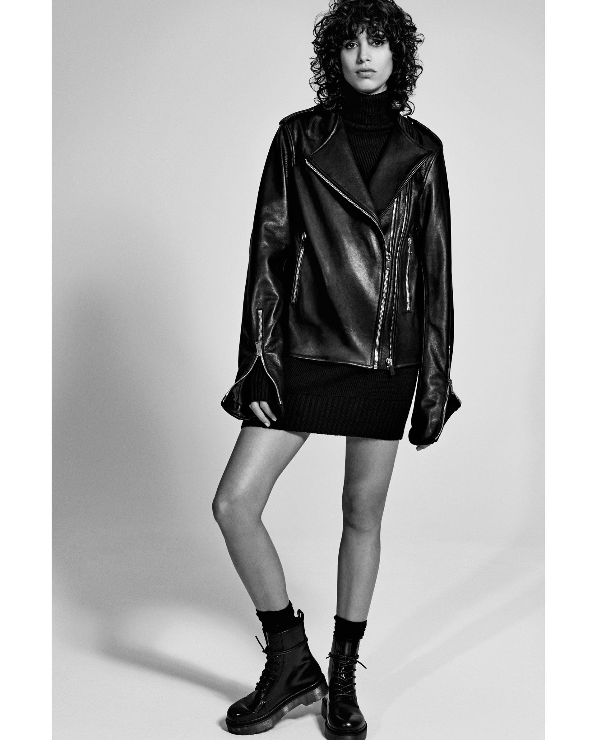Zara Leather Studio Jacket | Lyst