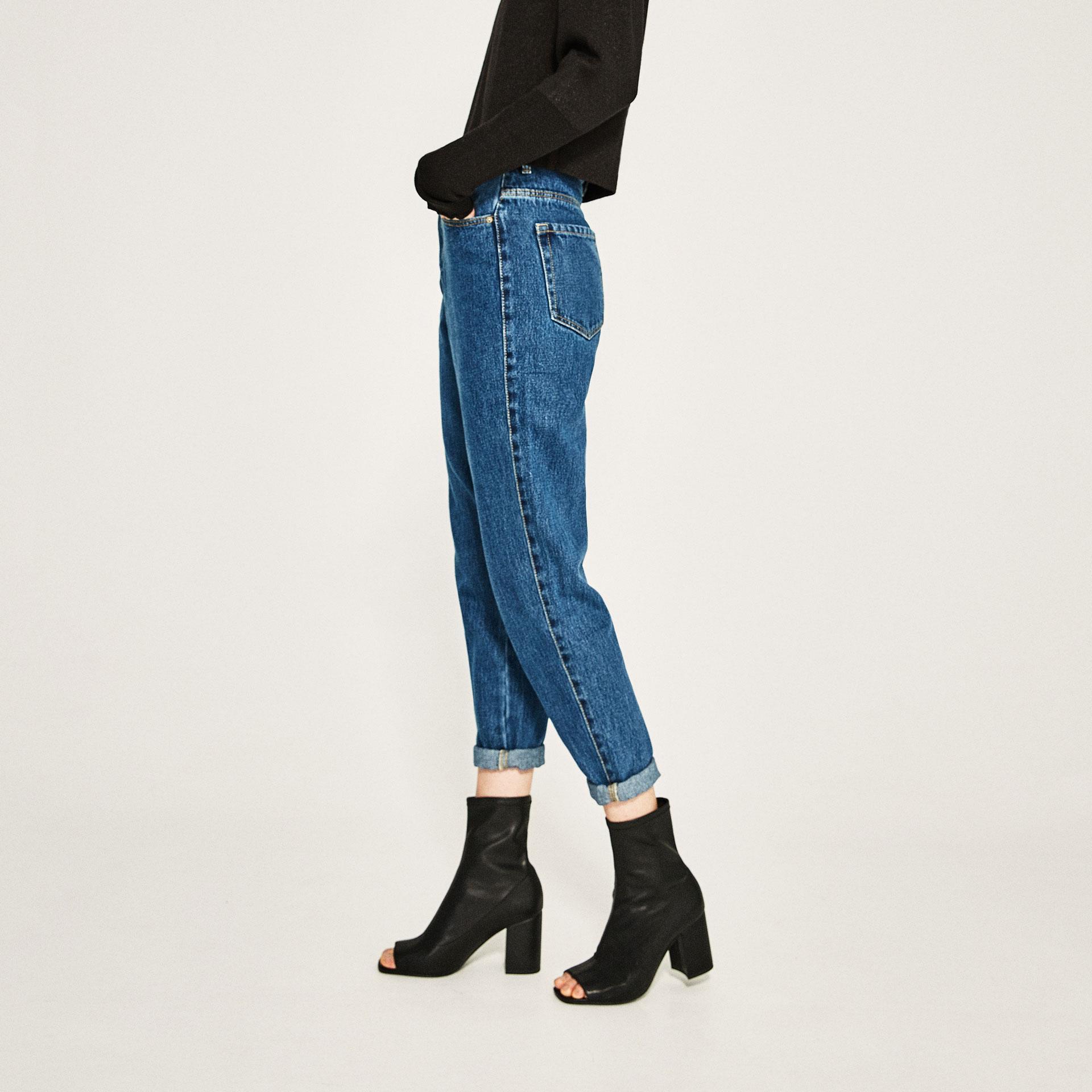 zara open toe high heel ankle boots in black lyst