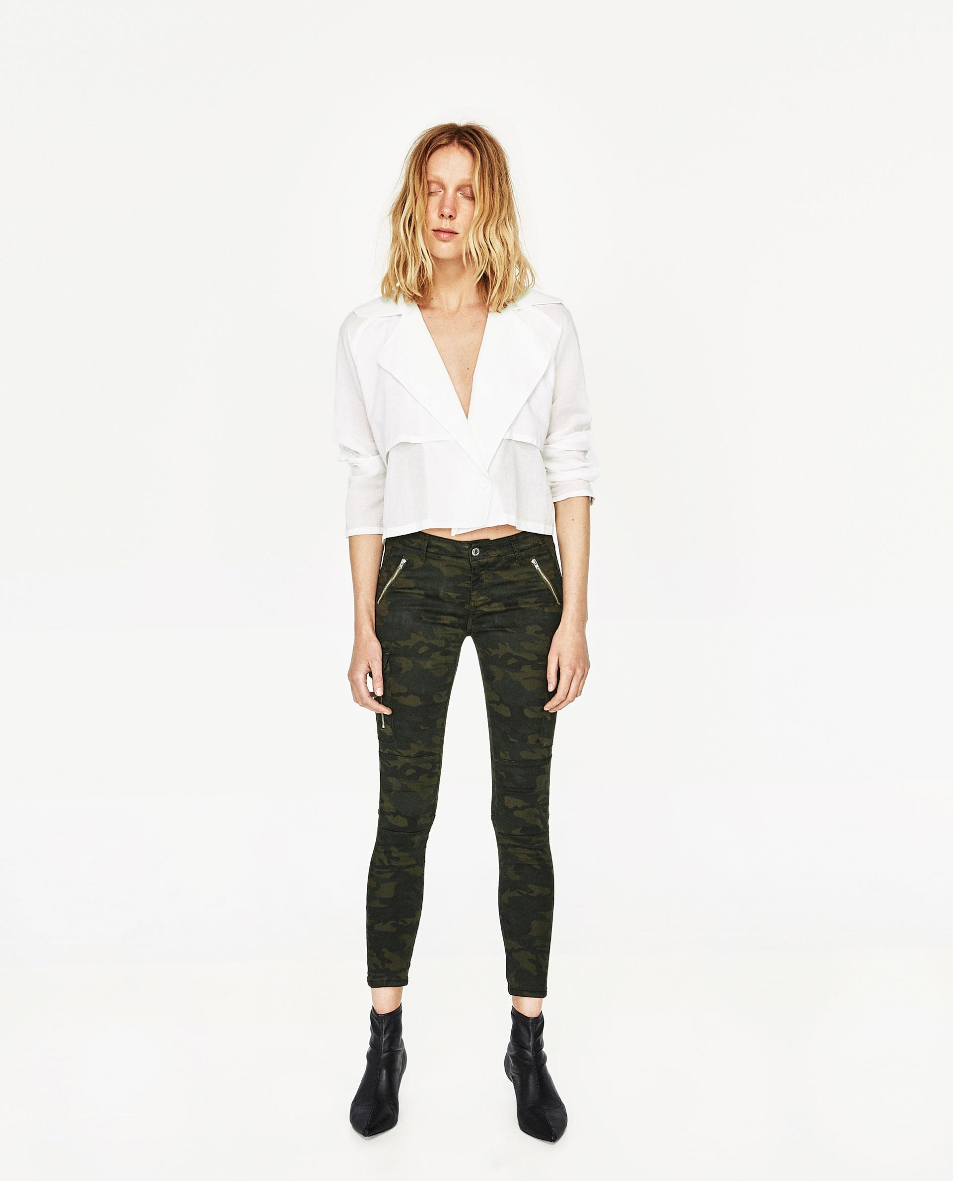 Excellent Zara Camouflage Print Harem Trouser  60