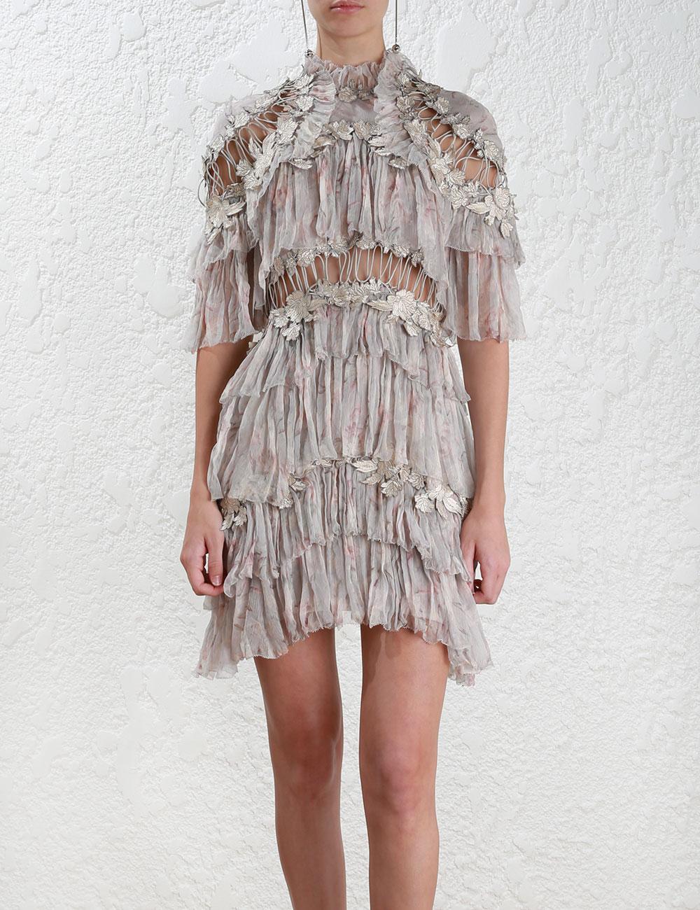 5ea608806311 Zimmermann Stranded Tier Mini Dress - Lyst